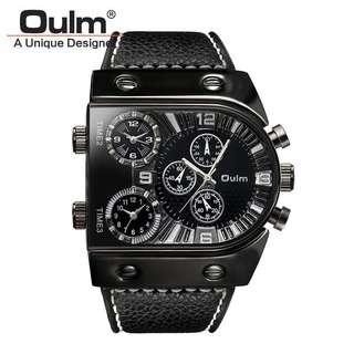 Oulm Mens Sports Military Wristwatch