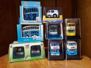 Q版巴士及車輛集合包(9架)