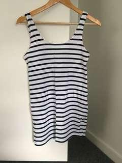 Sportsgirl Stripe Cotton Top / XXS / Petite / Casual Top