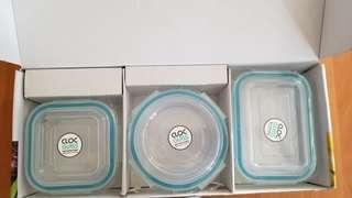 玻璃保鮮盒三個