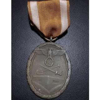 🚚 Nazi Germany West Wall Medal - #20027