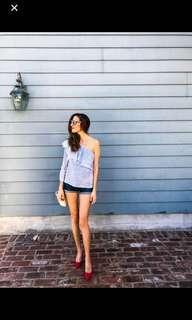 Zara Ruffles One Shoulder