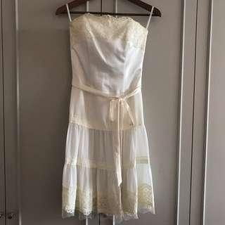 Bustier Lace Dress (off-white)