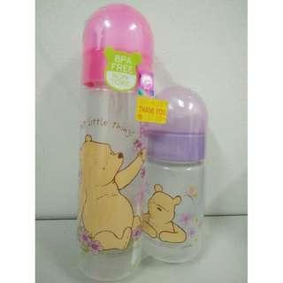 Classic Pooh Wide Neck Feeding Bottle Twin Pack 4oz+8oz/ 125ml+250ml