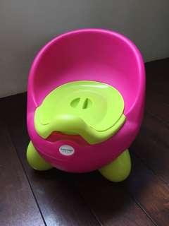 USED Pink Green Potty Seat
