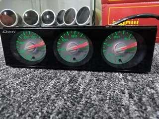 Defi din gauge white face
