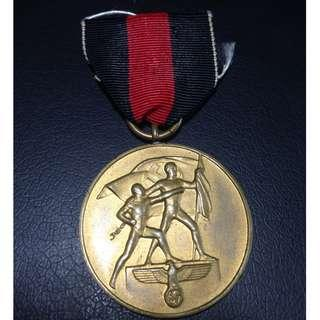 🚚 Nazi Germany Medal for the Occupation of the Sudetenland - #20035