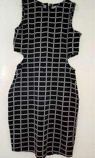 CUCI GUDANG Berrybenka black and white dress / dress hitam putih