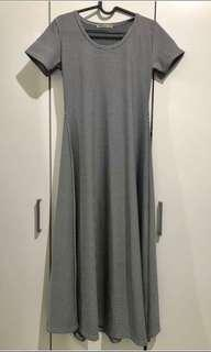 CUCI GUDANG Black and white dress / dress hitam putih