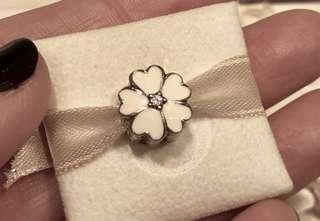 SALES!!! Pandora White with crystal clip