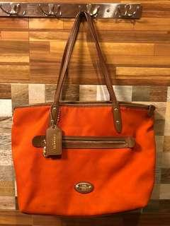 Authentic Coach Tote Bag (Orange)