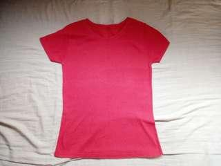 Plain pale Red T-shirt