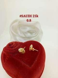 Earrings 21k gold