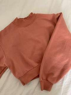 Salmon Cropped Sweater