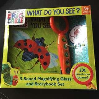Eric Carle What Do You See Story Set with 5-sound magnifying glass
