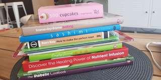 10 x assorted cooking books