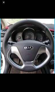 Kia k3 nappa Leather Steering wrap service