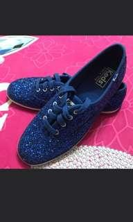 Authentic Keds Plimsoll Glitter Blue