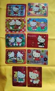 Hello Kitty card 10張閃卡