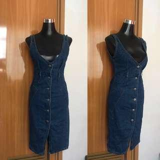 Soft Denim Dress/ Pinafore