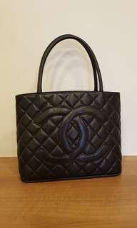 Authentic Chanel Classic Black Tote Bag