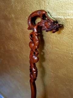 dragon Wood crutch龙拐杖-walking stick