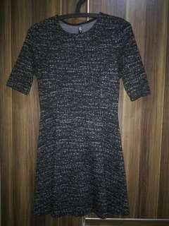 Cotton On Black w/White Ash Skater Dress