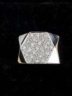 🚚 Men's 18K White Gold Diamond Ring