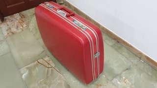 Vintage Red Echolac Luggage