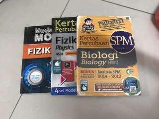 SPM physics+biology exercise books