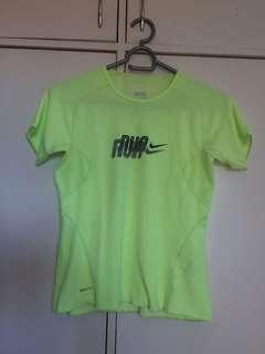 Green running shirt