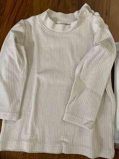 UNIQLO toddler red and white pullover