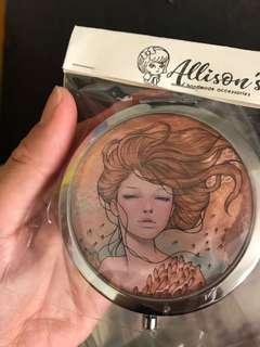 Audrey Kawasaki illustration compact mirror