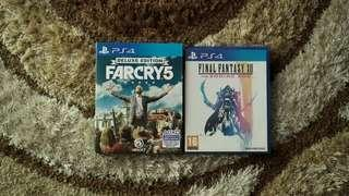 PS4 USED Far Cry 5 Deluxe Edition & Final Fantasy XII