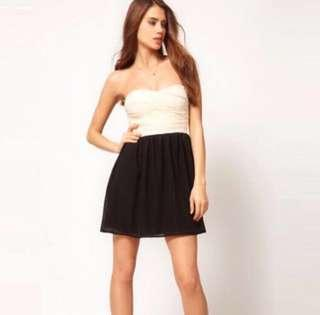 🚚 ASOS Rare London Contrast Bandeau Dress UK 10