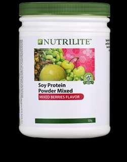 NUTRILITE Soy Protein Drink Mix - Mixed Berries Flavor (500g)