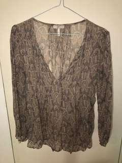 Joie silk sheer peasant top size Xs