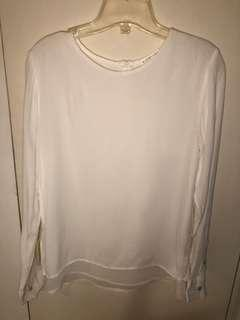 Violet and Claire double layer silk top size small