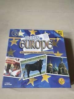 Board Game 10 Days in Europe New Sealed
