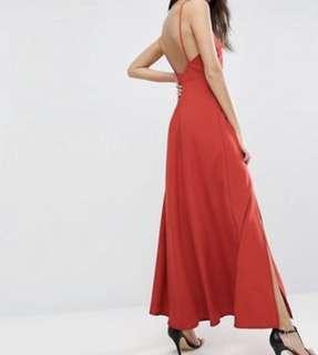 Uk16 ASOS Maxi Dress with Scoop Back