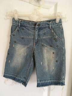 🚚 5-6y why1/2 復古牛仔短褲