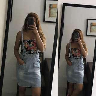 Soft Denim Jumper Skirt