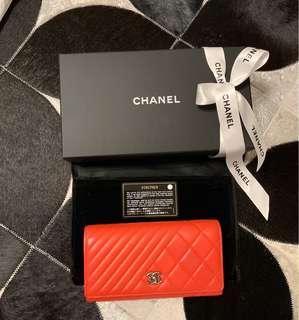 Chanel 香奈兒長夾 皮夾 9.8新