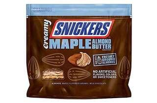 Creamy SNICKERS Maple Almond Butter Fun Size Square Candy Bars, 7.7-Ounce (218gm) Bars Bag (US)