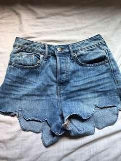 Button Up shorts denim jeans