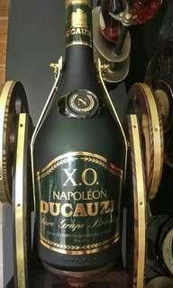 法國舊裝DUCAUZE NAPOLEON [EXTRA OLD]80年代尾砂樽連青銅木砲架,過年送禮睇得又飲得(700ml)