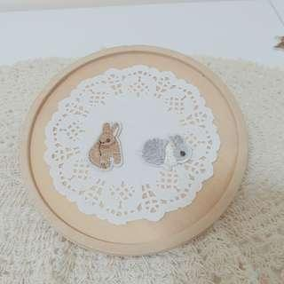 🚚 貓咪兔兔動物刺繡布貼