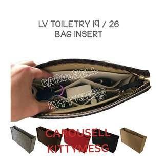 LV Toiletry 19 / 26 Bag Insert