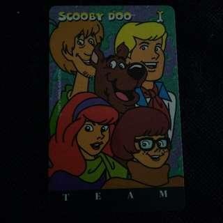 Vintage Phone Card Scooby doo