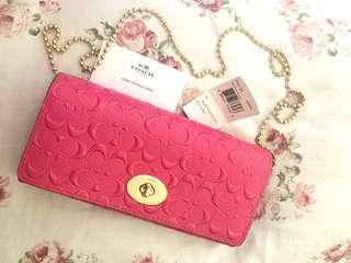 💯Coach Wallet On Chain Pink